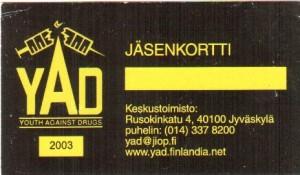 2003 YAD jasenkortti