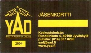 2004 YAD jasenkortti
