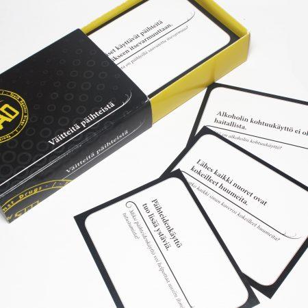 Väitteitä päihteistä -kortit
