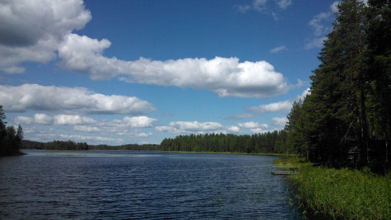 Kuva Järvimaisemasta.
