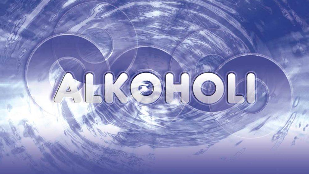 Kuvassa on teksti: alkoholi.