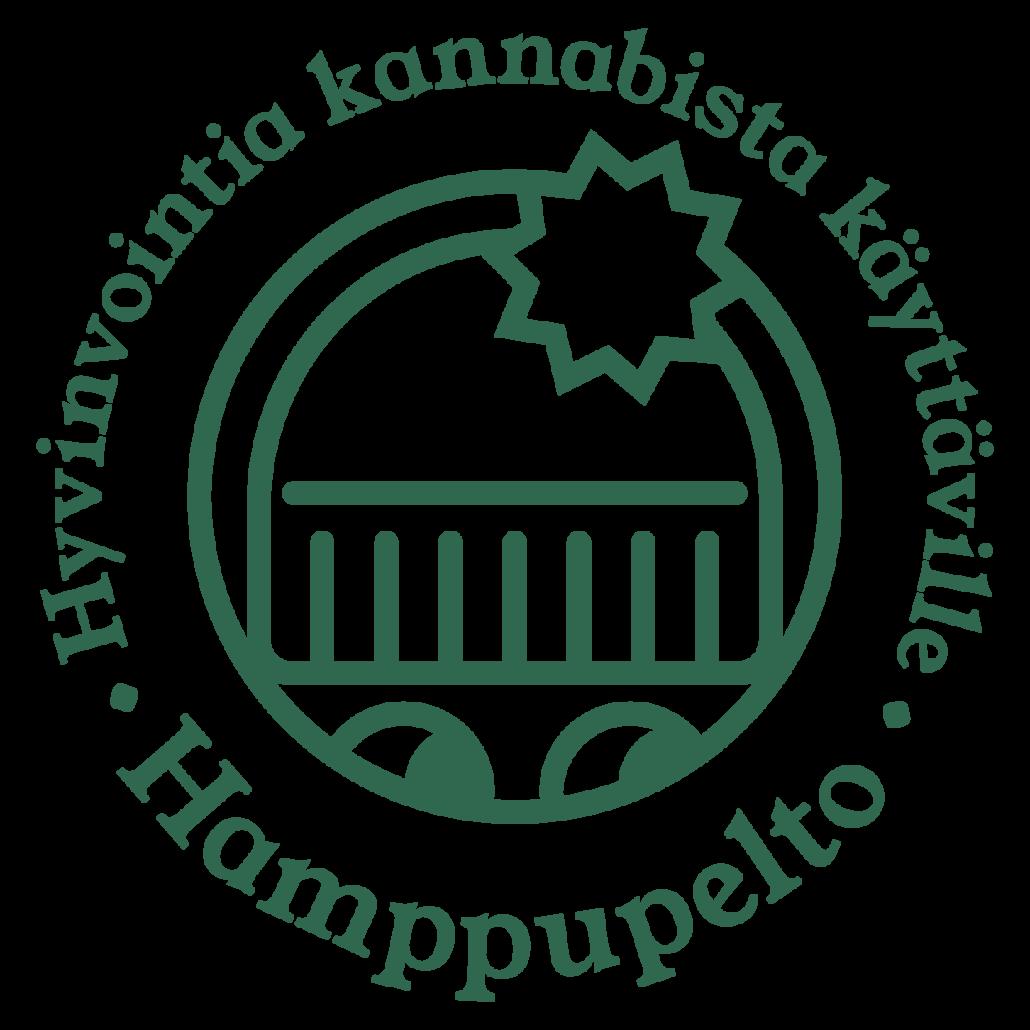 Logo: hyvinvointia kannabista käyttäville – Hamppupelto