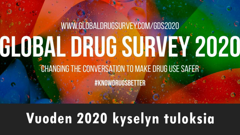 Global Drug Survey - vuoden 2020 kyselyn tuloksia